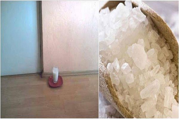 Ezért tégy egy pohár ecetes sós vizet a lakás közepére! Hihetetlen