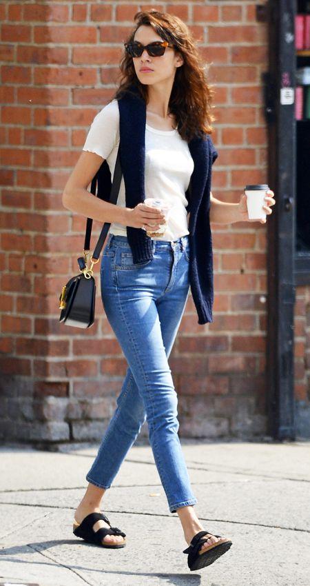 Celebrities Wearing Birkenstocks Alexa Chung Get The