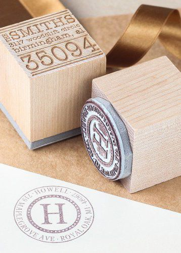 Personalize your wedding save the dates, invitations, and thank you notes with your own stamp!