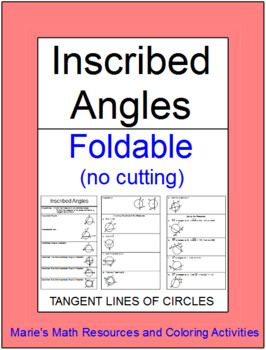 This is a foldable for notes on Inscribed Angles of Circles. The notes include properties of inscribed angles and tangent lines and chords and 9 examples. This also includes the SMART NOTEBOOK file with the foldable. Also this includes a set of 8 practice problems on a half sheet for interactive notebook.