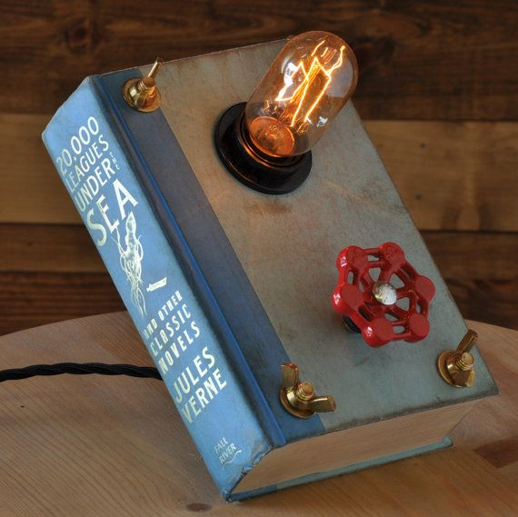 Hey, I found this really awesome Etsy listing at https://www.etsy.com/listing/182719043/repurposed-book-light-book-lamp-20000