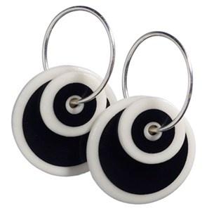 SCHERNING porcelænssmykker - Øreringe - dobbelte