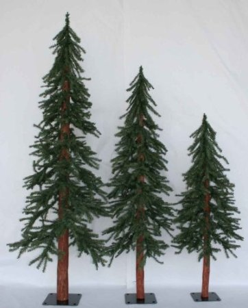 Amazon.com: Set of 3 Alpine Artificial Downswept Slim Christmas Trees 4ft,  5ft, 6ft: Home & Kitchen | For the Home | Christmas, Christmas Tree, ... - Amazon.com: Set Of 3 Alpine Artificial Downswept Slim Christmas