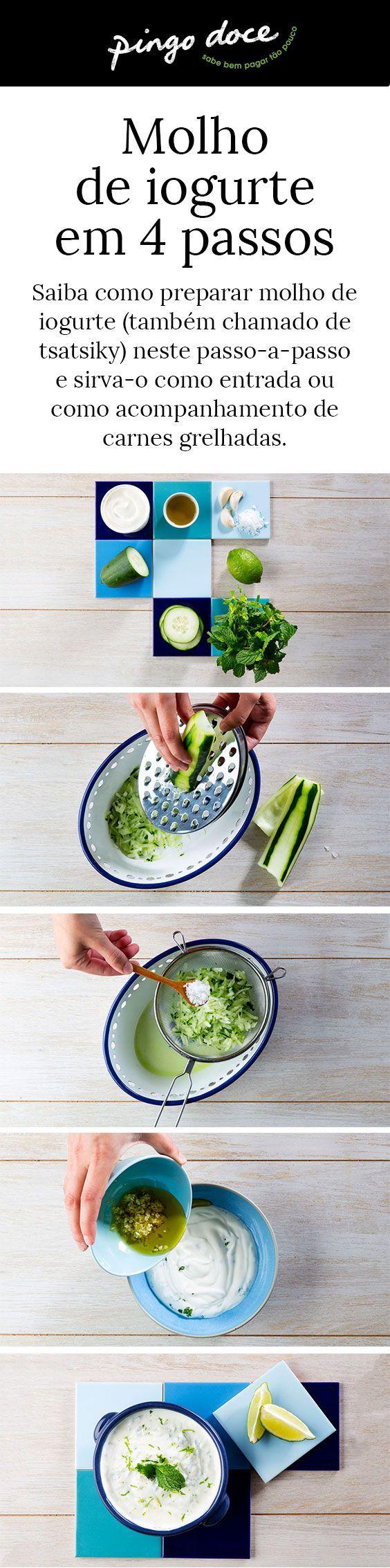 Muito versátil, o molho de iogurte é mais fácil de fazer do que pensa. Dizemos-lhe como neste passo-a-passo.