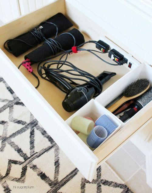 UHeart Organizing: Bathing In Blissful Bath Storage. Hair Tool StorageHair  Dryer ...