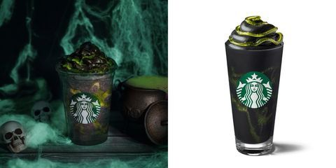Starbucks Is Selling a Phantom Frappuccino For Halloween That's Topped With Green Slime
