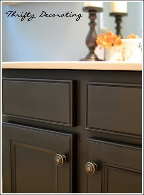 bathroom cabinet redo i plan to paint our small master bath cabinet black w