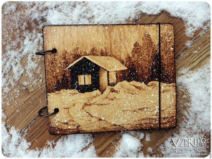 """Купить Деревянный блокнот """"Дом"""" - vzbrelo, взбрело, деревянный блокнот, деревянный скетчбук, деревянный артбук"""