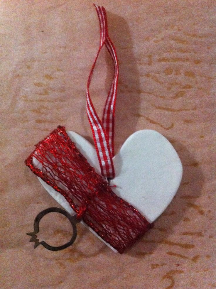 Ornament or lucky charm | #myhope #handmade #heart #red #love #christmas #loading
