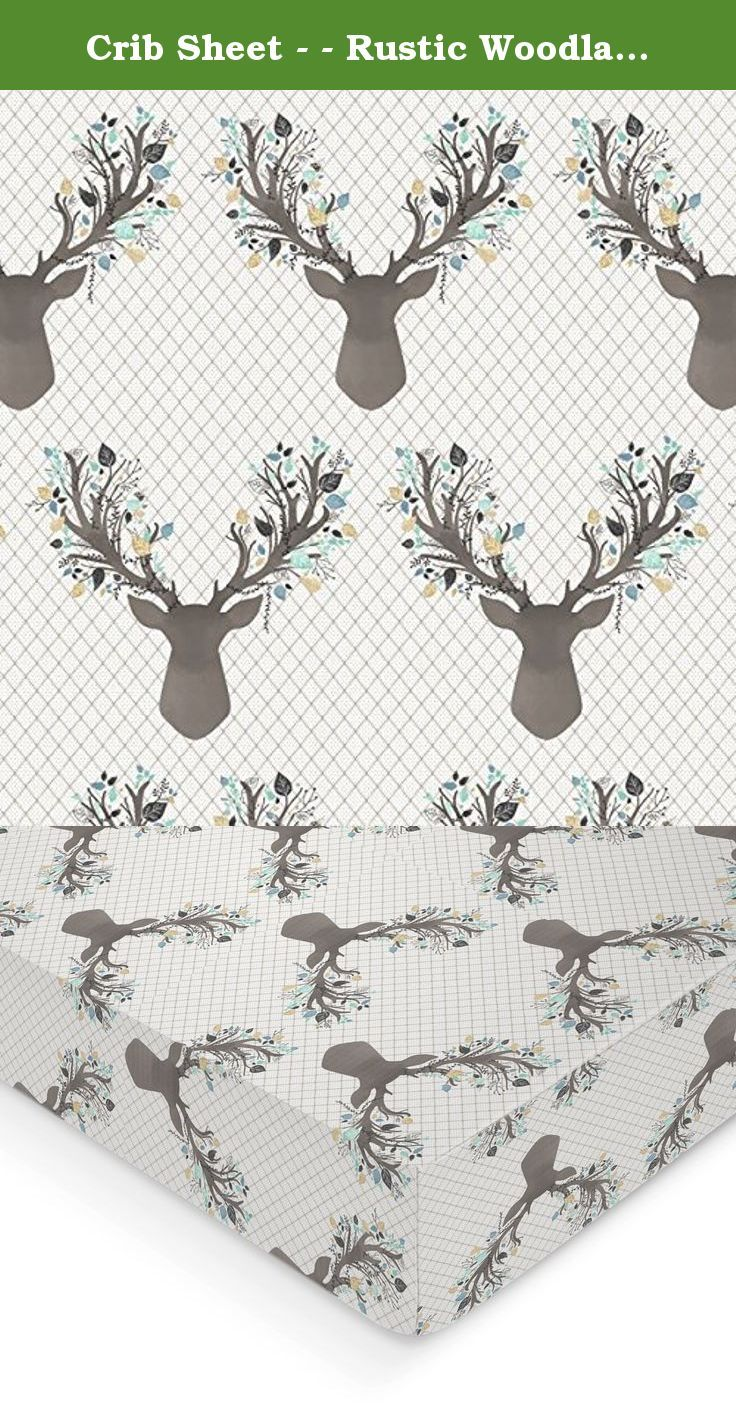Crib Sheet - - Rustic Woodland Stag Deer Deer - - Fitted Crib Sheet- Aspen Blue Crib Sheet- Crib Bedding - Nursery Bedding - Baby Bedding. How perfect would this woodland deer fawn print be to any woodland themed nursery, or the perfect baby shower gift! How rustic and perfect for your little blossom! All crib sheets and changing pad covers are fitted with elastic all the around for a secure fit and fit standard size mattresses. Handmade with cotton material. Also keep in mind that all...