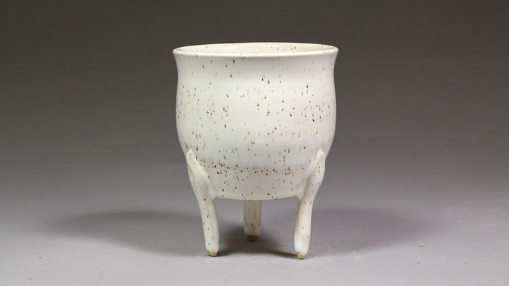 """4.25"""" Orchid Display Pot with Feet by Ashley Keller"""