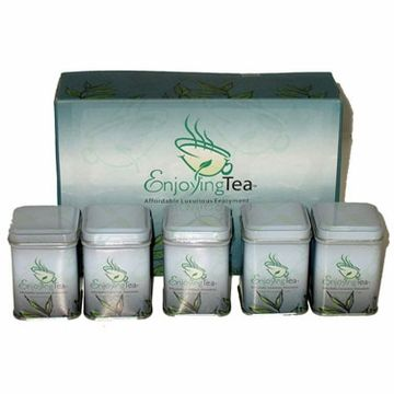 This is the perfect tea sampler for people who want to try Green tea for the first time at an affordable price. Green tea is a great source of Vitamin C and minerals such as fluoride. Green tea also contains antioxidants that fight free radicals. More details visit us @ Enjoyingtea.com