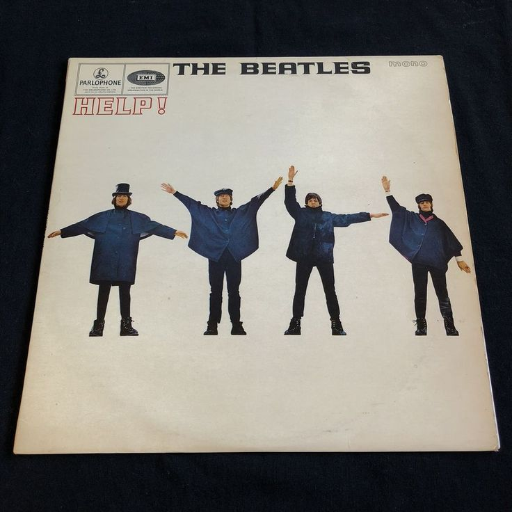 The Beatles Help LP Record UK Early 1st Mono Press PMC 1255 Lark Mus. KT #BritishInvasionSingerSongwriter