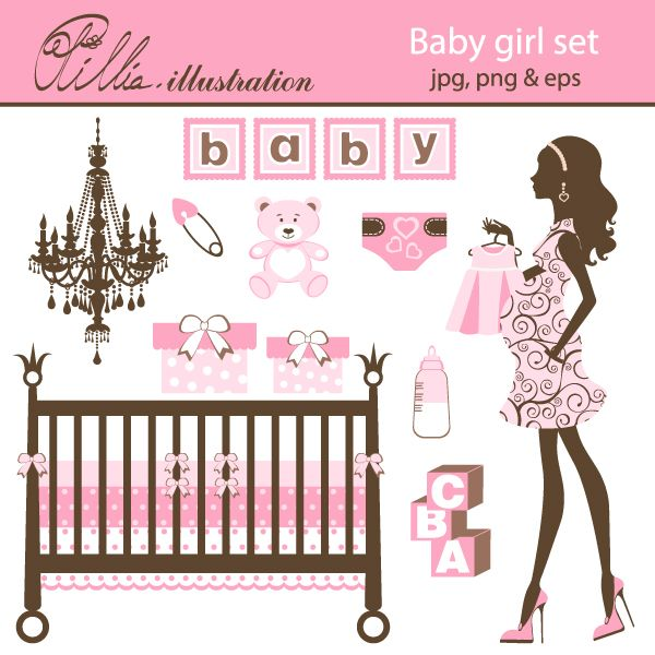 Baby Girl Set Pretty In Pink Party Ideas Graphics And