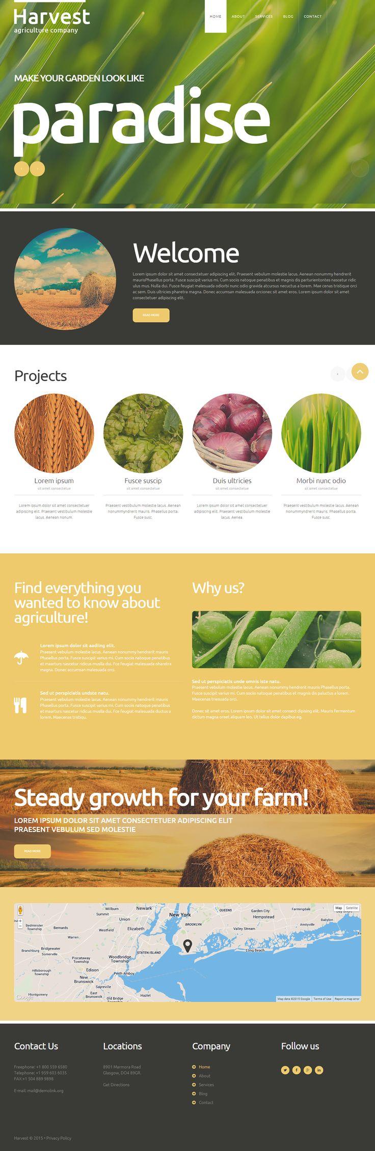 Agriculture Company Joomla Template