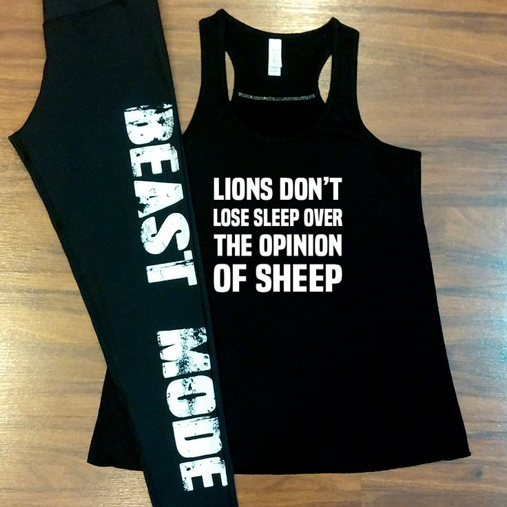 Motivational workout tank tops & beast mode leggings for women.