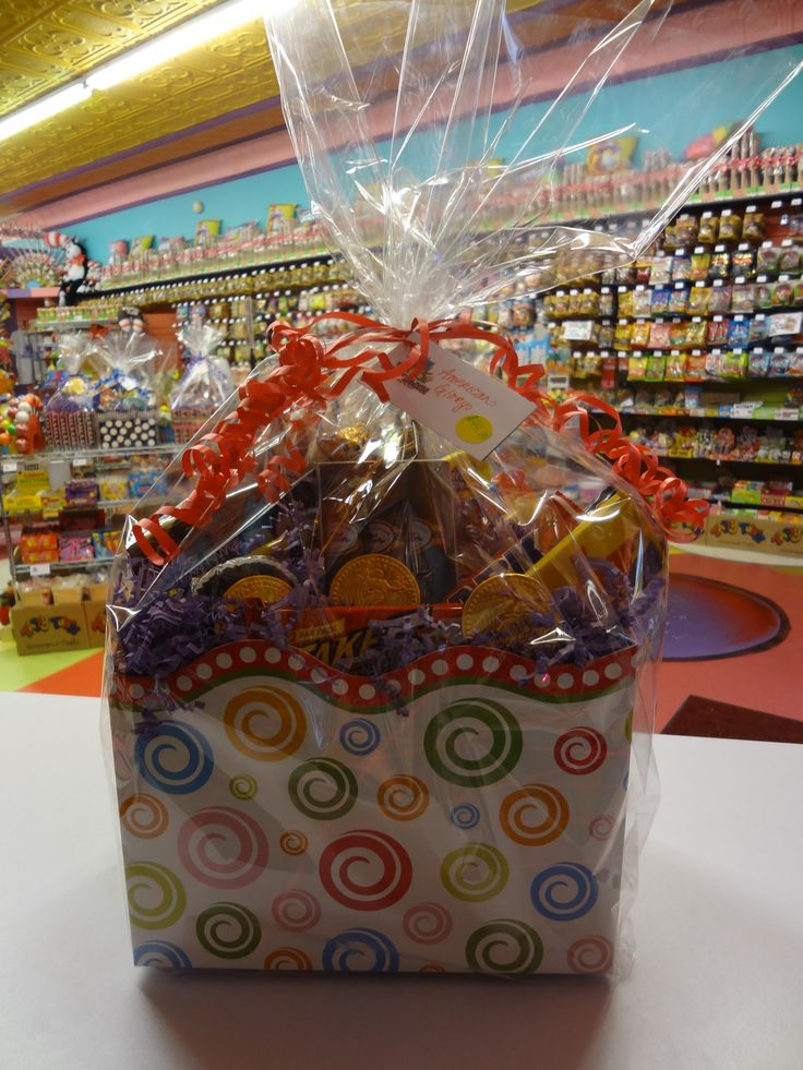 """""""American Glory"""" A patriotic assembly of only the best delicious American candy products! Enjoy a variety of chocolate bars, such as a 5th Avenue, a Charleston Chew, and the simplest classic of all, a giant Hershey's. ...In Candy Funhouse we trust..."""