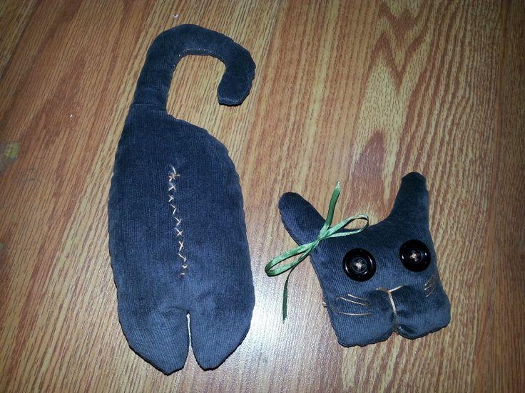 oyuncak yapsana: Kadifeden Kedi Yapımı