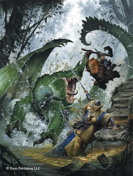 Cover artwork to Pathfinder RPG Strategy Guide by Wayne Reynolds