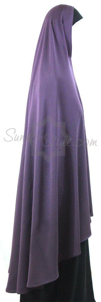 Knee Length Khimar (Lilac) by Sunnah Style - www.sunnahstyle.com
