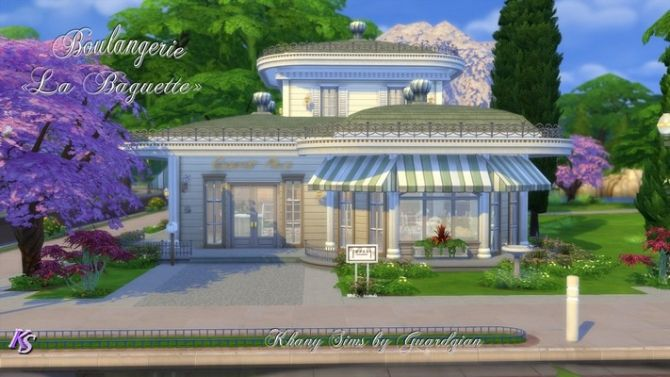La Baguette bakery by Guardgian at Khany Sims via Sims 4 Updates
