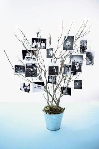 10 Centros de mesa hechos con fotografías 10