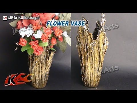 DIY Up-Drip Flower Vase from waste cloth | How to Make | JK Arts 491 - YouTube