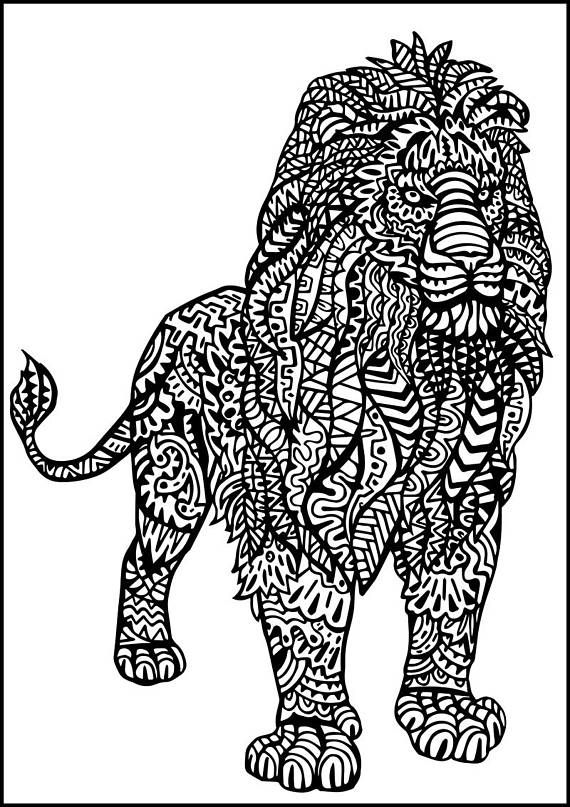 Coloring Sheet Art Therapy Animal Coloring Doodle Custom Doodle Doodling Creative Coloring Pdf Coloring Relaxation Coloring Digital D Desenhos Colorir Animais