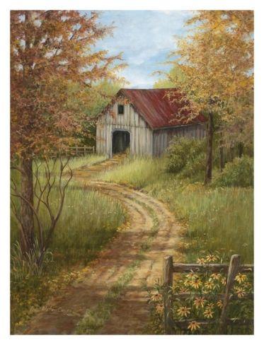 Roadside Barn Print by Lene Alston Casey at Art.com