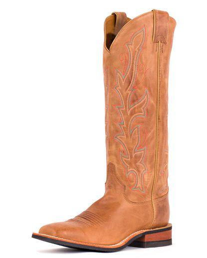 Women's America Tan Cowhide Boot - BRL341