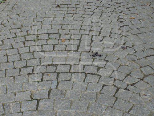 Square stone path.