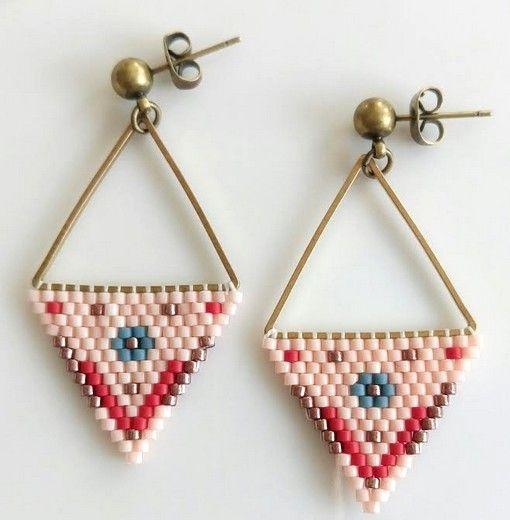 Miyuki earrings. Supplies: Hobium.com Miyuki küpelerin yapımı için ihtiyacınız olan malzemeleri Hobium.com'da bulabilirsiniz.