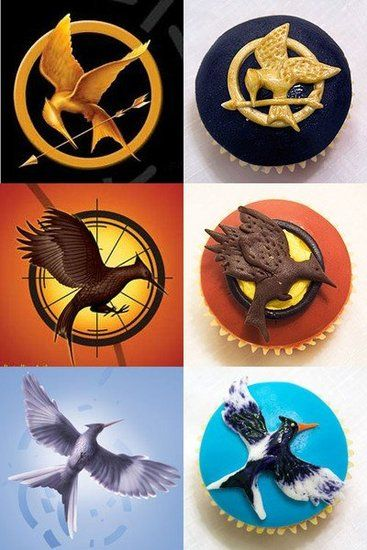 Cupcakes inspired by The Hunger Games trilogy