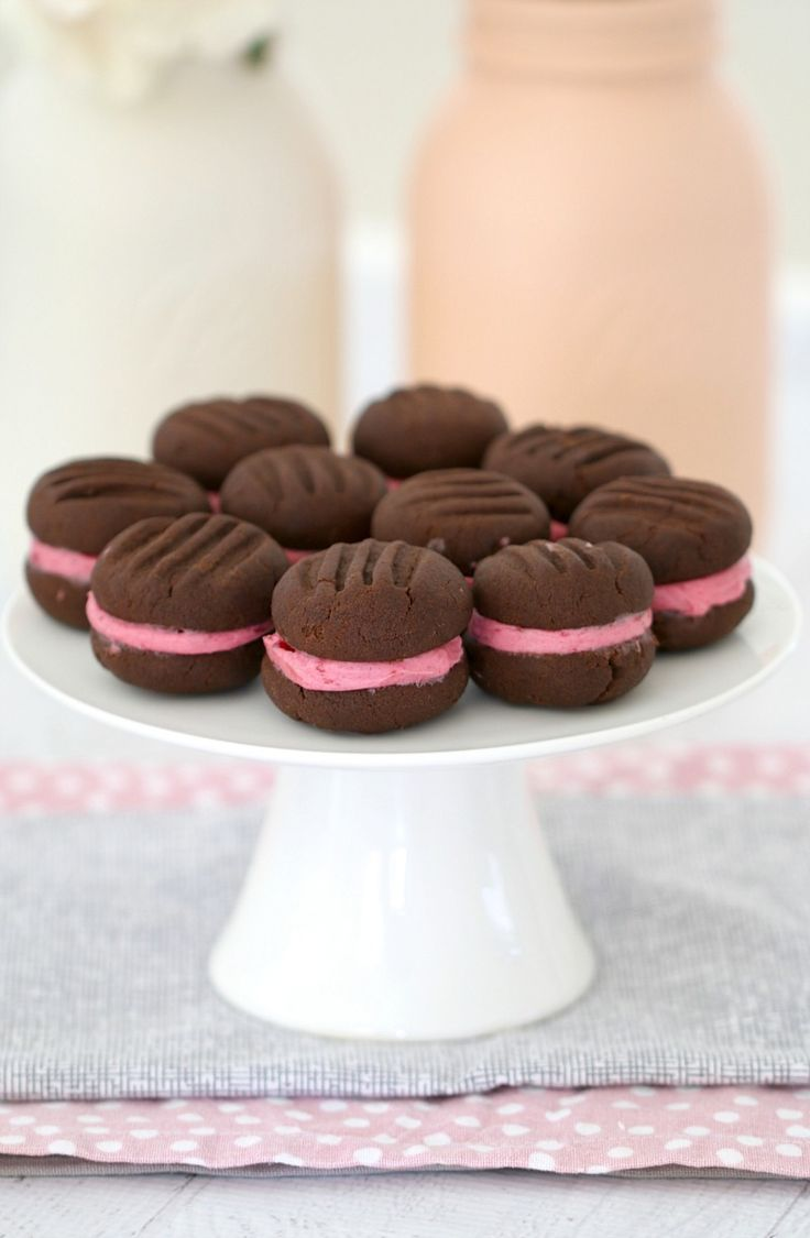 These Chocolate Raspberry Biscuits are double trouble with TWO yummy chocolate… …