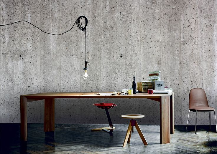 Love the concrete look, can't believe this is only a mural! Get an industrial look with the concrete wall mural