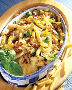 Penne cu sos la cuptor - Retete culinare - Romanesti si din Bucataria internationala