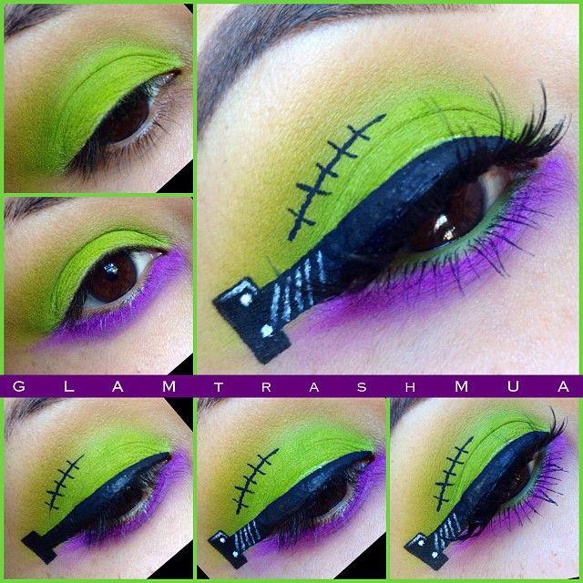 Quick Frankenstein eyeshadow...