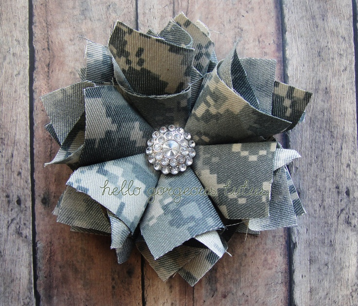 Amelia Flower Clip in ACU. Army bow- ACU Clip- Army- Military. ACU Flower. $12.00, via Etsy.
