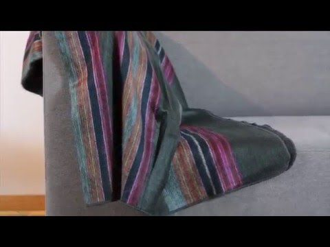 Alpaca Throw Blanket - Sofa Throw Ecuador Blankets - Mauch Studio - YouTube