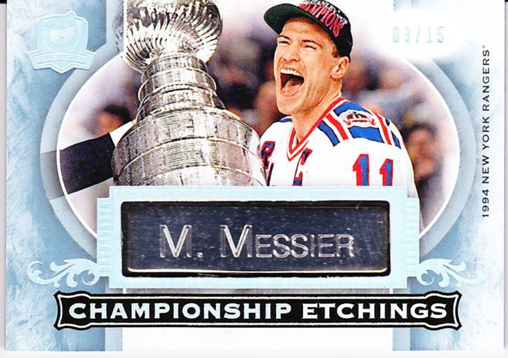 15-16 The Cup Mark Messier Championship Etchings