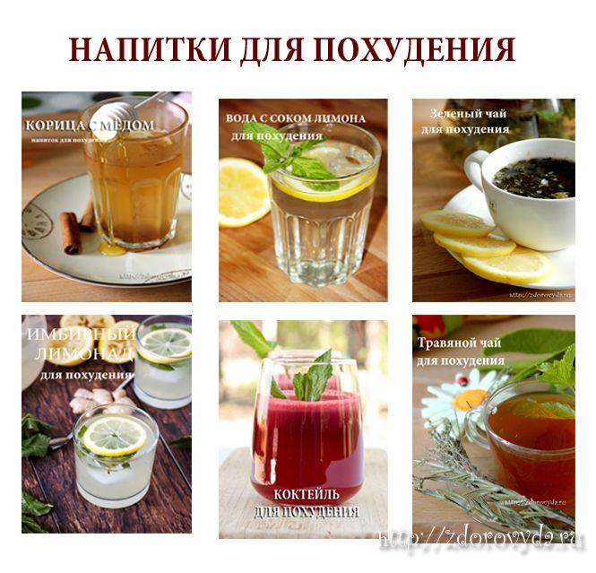 Топ лучших напитков для похудения