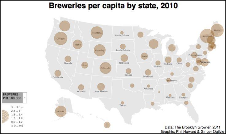 Beermap of the US