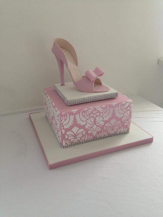 Pink shoe cake