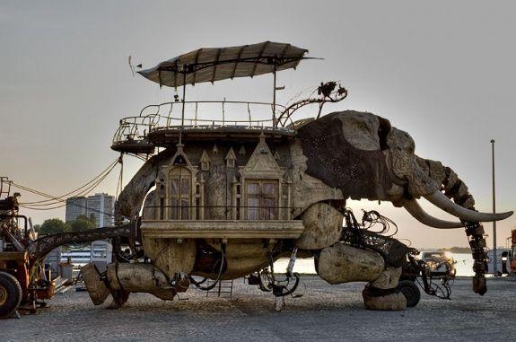 mechanical elephant art car