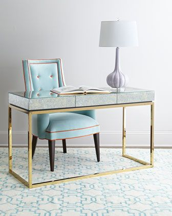 Delphine Desk by Jonathan Adler at Horchow. home office. home decor and interior decorating ideas.