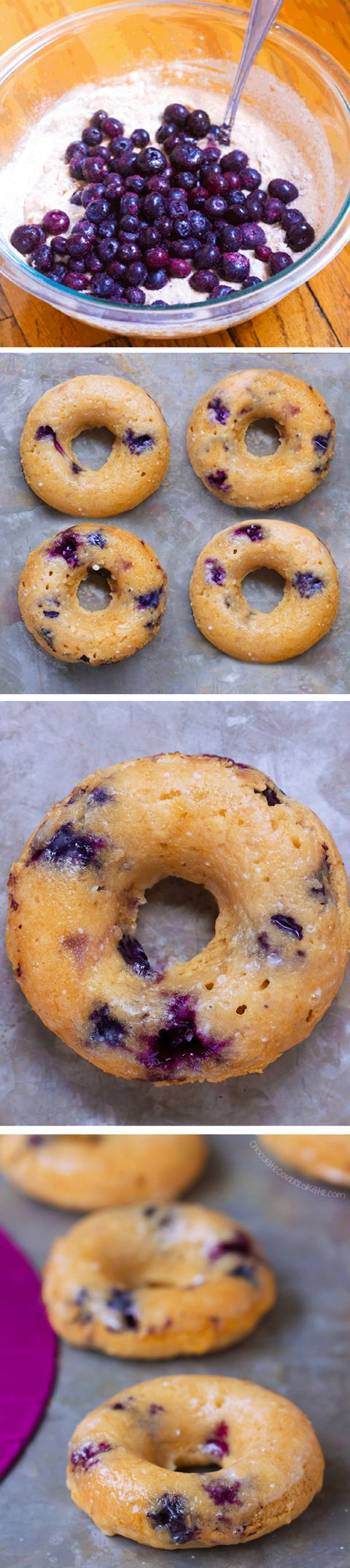 Blueberry BAKED Donuts, So Good!