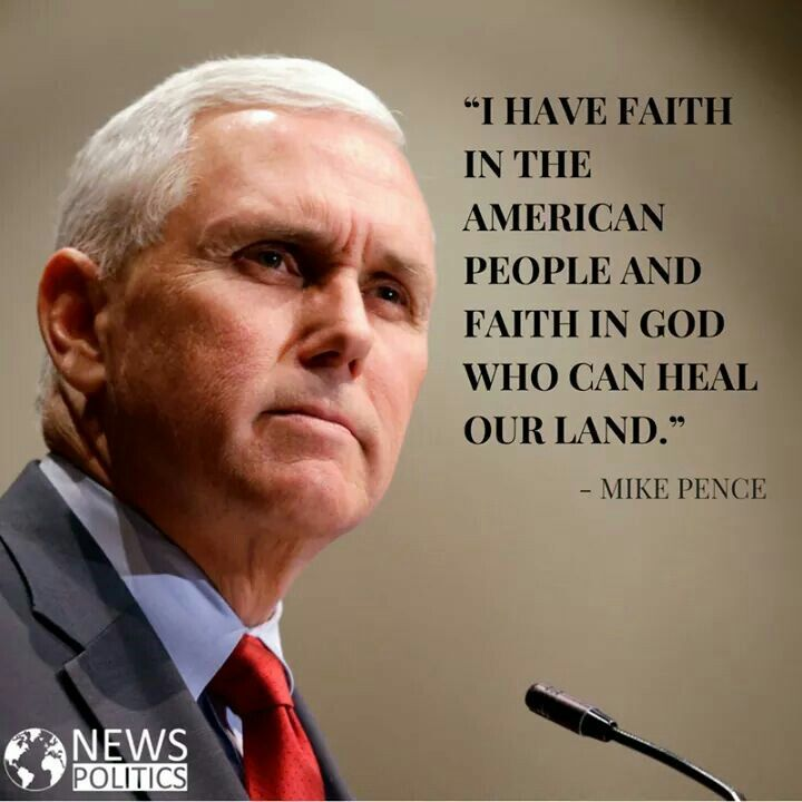 I believe and have faith in President Trump and Vice President Pence. GOD bless America.