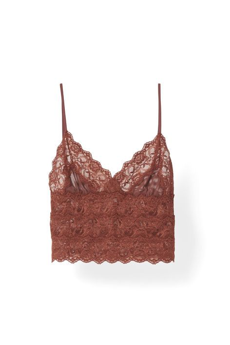 Lightweight stretch-blend bra with extra lace detail, soft cup, and  elasticated underband · Smoked PaprikaMesh ...