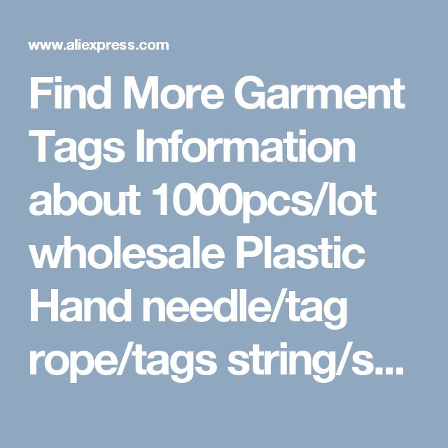 Find More Garment Tags Information about 1000pcs/lot wholesale Plastic Hand needle/tag rope/tags string/snap button/tag pins for Clothing/Watches/Bags/Shoes/Accessories,High Quality pin ends,China pin conector Suppliers, Cheap button bling from Fashion MY life on Aliexpress.com