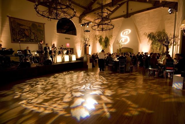 Gorgeous setup with a #gobo #monogram on the #dancefloor at this amazing #uplighting #wedding #reception! #diy #diywedding #weddingideas #weddinginspiration #ideas #inspiration #rentmywedding #celebration #weddingreception #party #weddingplanner #event #planning #dreamwedding by @lafeteweddings